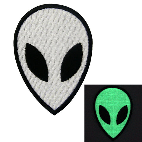 low In Dark Alien Iron On Sew On Patch