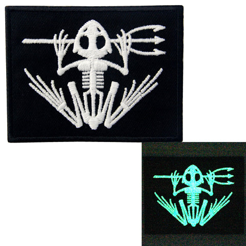 Glow In Dark US Navy Seals Bone Frog DEVGRU Iron On Sew On Patch