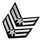 Airman Embroidered Iron On Sew On Chevron Patch