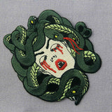 Bleeding Medusa Embroidered patches Iron On Sew On Patch