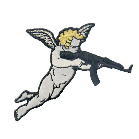 Gun Cupid Embroidered Patches Iron On Sew On Patch Badges