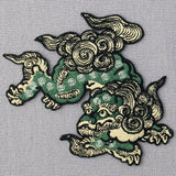 Komainu Guard Dog Embroidered Iron On Patch