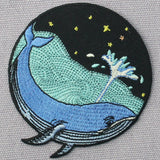 Whale Sea Embroidered Iron Sew On Patch