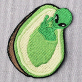 Alien Avocado Embroidered Iron On Patches