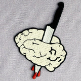 Kill Brain Embroidered Iron Sew On Patch