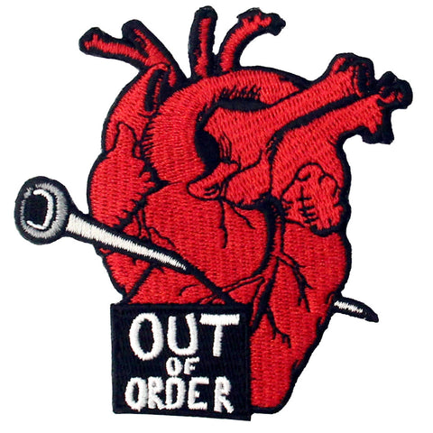 Heart Out Embroidered Iron On Patch