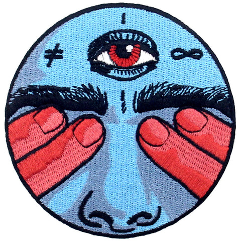 Eye nose Embroidered Iron On Patch