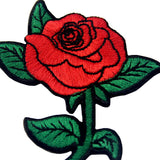 Red Rose Embroidered Patches Badges Appliques Iron On Sew On Patch