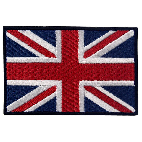 British Union Jack Flag Embroidered Iron On Sew On Patch