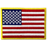 American Flag Embroidered Iron On Sew On Patch
