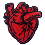 X-Ray Heart Embroidered Iron Sew On Patch