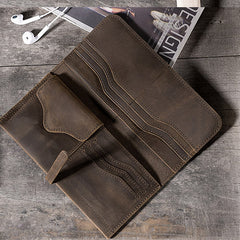 Handmade leather vintage Men PERSONALIZED MONOGRAMMED GIFT CUSTOM long wallet clutch phone purse wallet