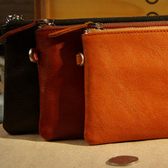 Handmade leather vintage zip women long wallet clutch phone purse wallet