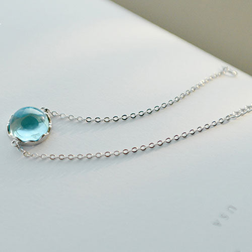 Silver Bracelet Crystal Charm Bracelet Chain Bracelets Gift Jewelry Accessories Girls Women