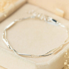Silver Bracelet Layered Charm Bracelets Chain Bracelets Gift Jewelry Accessories Women