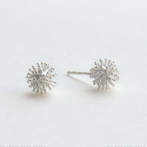 Silver Earrings Dandelion Studs Earrings Gift Jewelry Accessories Christmas Gift For Women