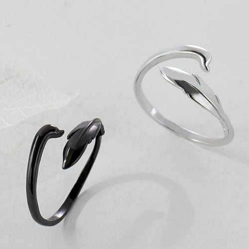 Silver Ring Swan Statement Ring Adjustable Ring Wrap Gift Jewelry Accessories Women
