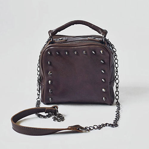 Handmade Leather Cute Small Womens Handbag Purse Crossbody Bag Shoulder Bag