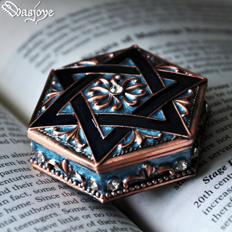 Star of David Zodiac Jewelry Box Storage Cabinet Box Zinc Alloy Constellation Gift Accessories Women