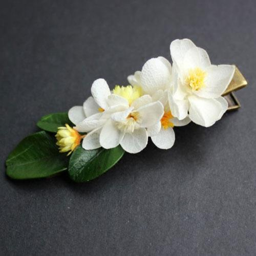 Real Preserved Flower Hair Clip Bridal Jasmine Floral Cute Gift Hair Jewelry Accessories For Girls