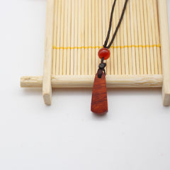 Ebony Camwood Handmade Necklace Minimal Stick Charm Pendant Gift Jewelry Accessories Women