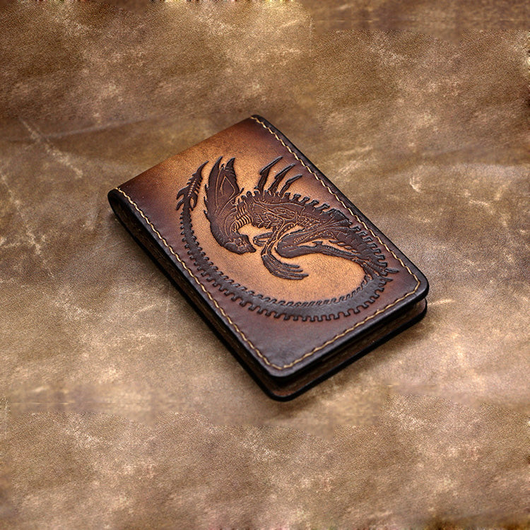 3746538d271e3 Handmade Leather Short Tooled Alien Front Pocket Wallet Money Clip  Personalized Monogrammed Gift Custom Cool Leather Wallet Slim Wallet for Men