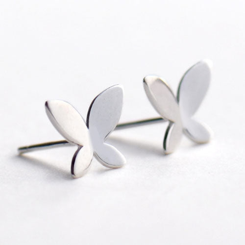 Silver Earrings Butterfly Tiny Studs Gift Jewelry Accessories Christmas Gift For Women