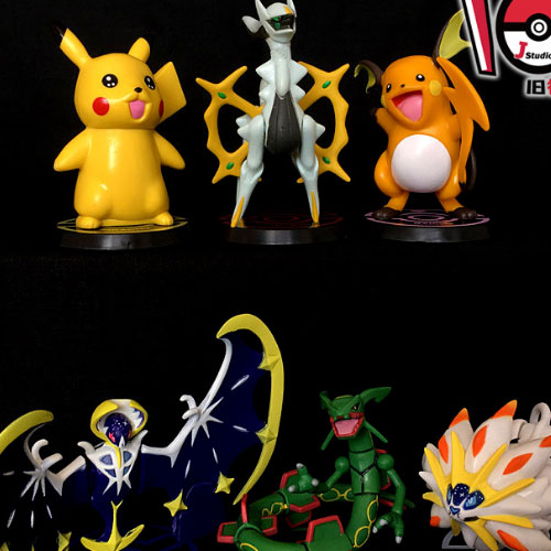 Pokemon go Solgaleo Pikachu Raichu Lunala Arceus Rayquaza Figurine New Pocket Monsters Figure Collectible Model Toy
