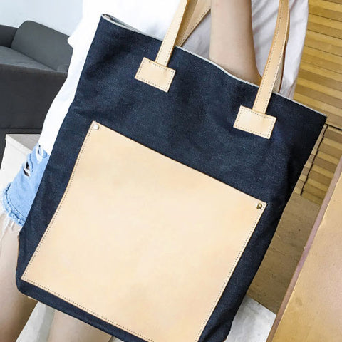Genuine Denim handmade shoulder bag cross body bag handbag tote bag