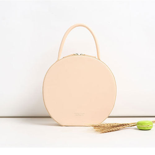 Genuine Leather Women Cute Girl Circle Round Bag Purse Crossbody Bag S –  Evergiftz