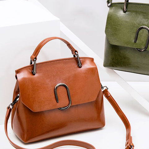Genuine leather vintage women handbag shoulder bag crossbody bag