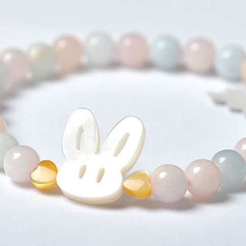 Beaded Bracelet Aquamarine Charm Bracelets Rabbit Cute Gift Jewelry Accessories Women