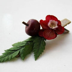 Real Preserved Flower Hair Clip Berry Cherry Hairpin Bridal Floral Cute Gift Hair Jewelry Accessories For Girls