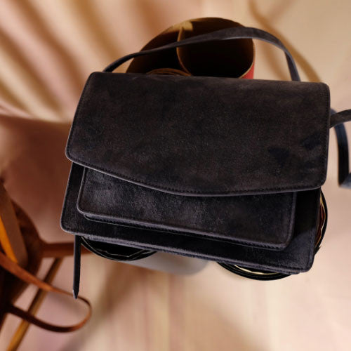 Genuine Velvet vintage handmade shoulder bag cross body bag handbag