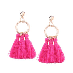 Earrings Tassel Hoop Chandelier Drop Dangle Party Christmas Gift Jewelry Accessories Women