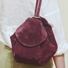 Genuine Velvet vintage handmade shoulder bag cross body bag handbag backpack