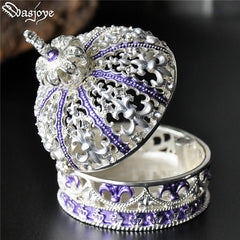 Tiara Hollow Crown Jewelry Box Storage Cabinet Box Zinc Alloy Gift Accessories Women