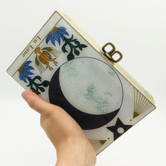 Constellation Zodiac Tarot Handbag Folded Women Party Chain Box Wallet Clutch Phone Wallet