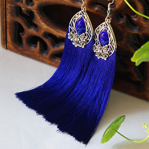 Ethnic Earrings Handmade Tassel Vintage Dangle Long Drop Gift Jewelry Accessories Women