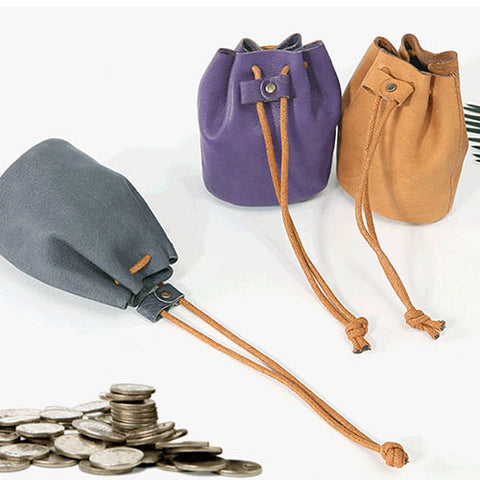 Genuine Leather women girl coin change small wallet pouch