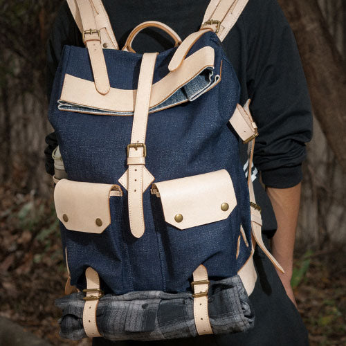 Genuine Denim handmade shoulder bag cross body bag handbag backpack