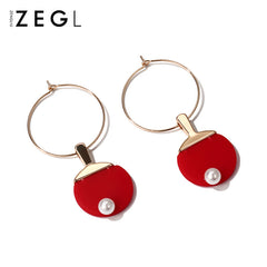 Earrings Tennis Bat Sports Thread Cute Dangle Drop Chrismas Gift Jewelry Accessories Women