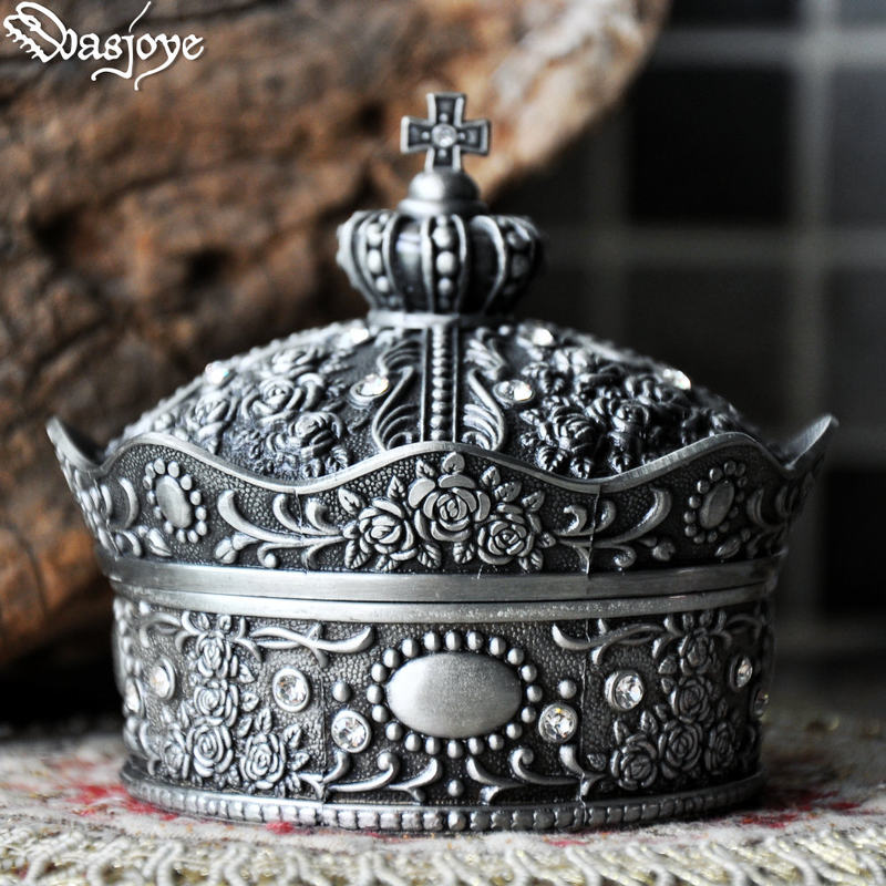 Tiara Crown Jewelry Box Storage Cabinet Box Zinc Alloy Gift Accessories Women