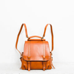 Genuine leather vintage women handbag shoulder bag crossbody bag backpack