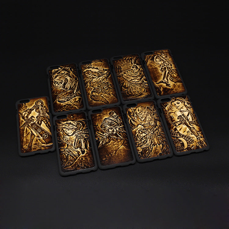 the best attitude 441d3 26237 Handmade Leather iPhone Case Tooled LOL League of Legends Personalized  Monogrammed Gift Custom Cool Phone Case for Men