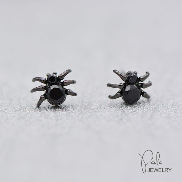 Silver Earrings Spider Stud Earring Cute Christmas Gift Jewelry Accessories Women
