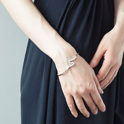 Silver Bracelets Snake Curved Chain Gift Jewelry Accessories Women