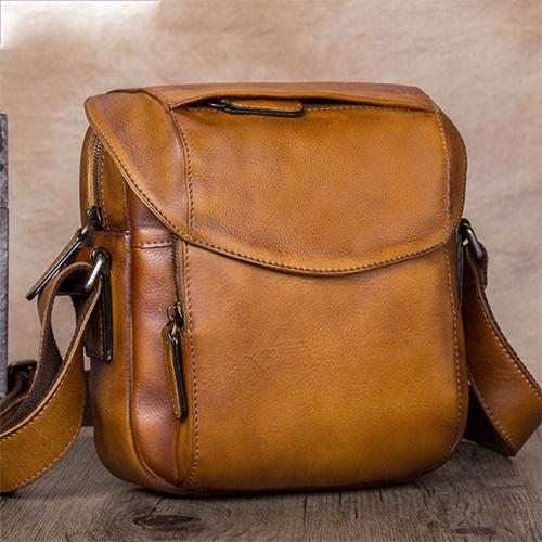 Brown Leather Satchel Bag  Side Shoulder bag