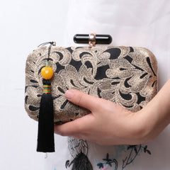 Handmade Clutch Flower Shoulder Bag Bube Party Handbag Clutch Women Wallet