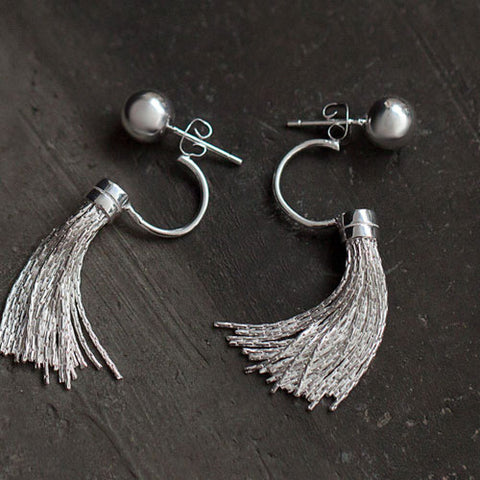 Silver Earrings Vintage Ethnic Chandelier Dangle Drop Gift Jewelry Accessories Women